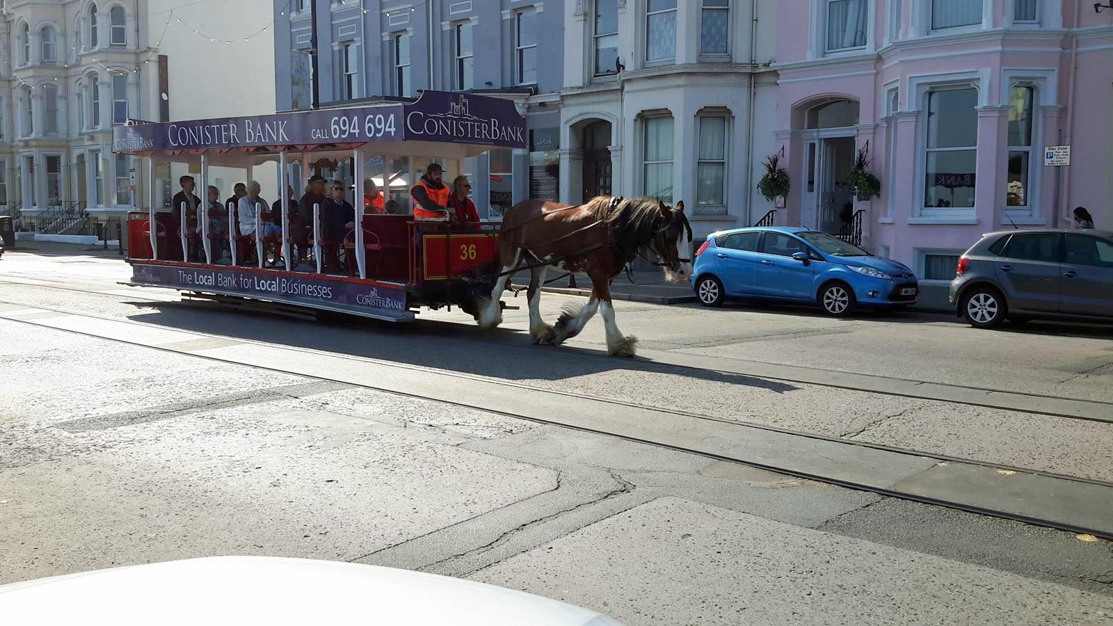 Horse Trams, upper prom, Douglas