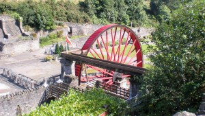 Lady Evelyn / Snaefell water wheel, Laxey
