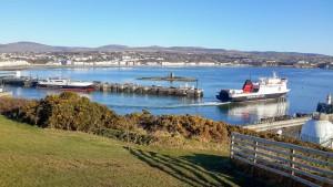 Steam Packet vessels leaving Douglas harbour